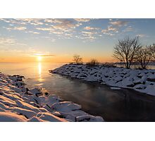 Brilliant, Bright and Cold - a Winter Morning on the Lake Shore Photographic Print