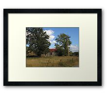 By the Road Framed Print