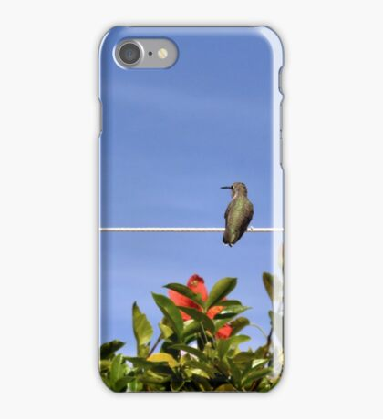 Two Hummies on a Wire iPhone Case/Skin