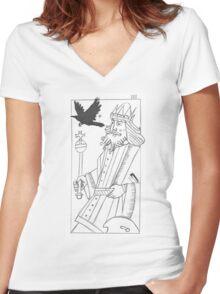 Childermass' Raven King Women's Fitted V-Neck T-Shirt