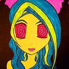 Psychedelic Anime Girl by PsyHye