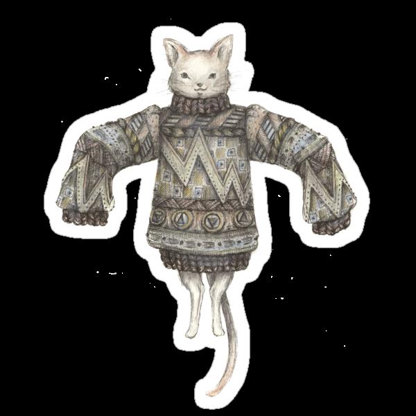 Sweater Puss T-Shirt by brettisagirl