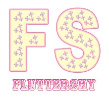 Initials Fluttershy - White Photographic Print