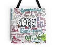 1989- Taylor Swift Tote Bag