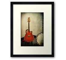 Mandolin and Banjo Framed Print