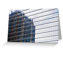 Evening building reflections in Houston, TX Greeting Card