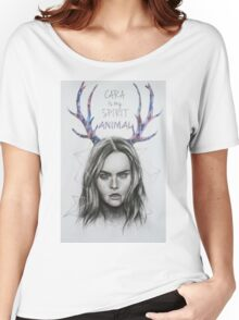 CARA DELEVINGNE ILLUSTRATION Women's Relaxed Fit T-Shirt