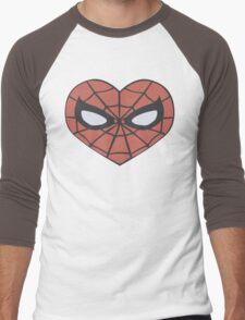 Spider-Man Heart T-Shirt Men's Baseball ¾ T-Shirt