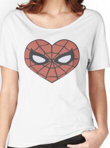 Spider-Man Heart T-Shirt Women's Relaxed Fit T-Shirt