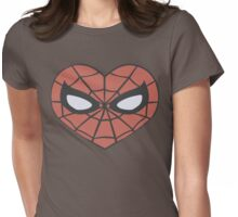 Spider-Man Heart T-Shirt Womens Fitted T-Shirt