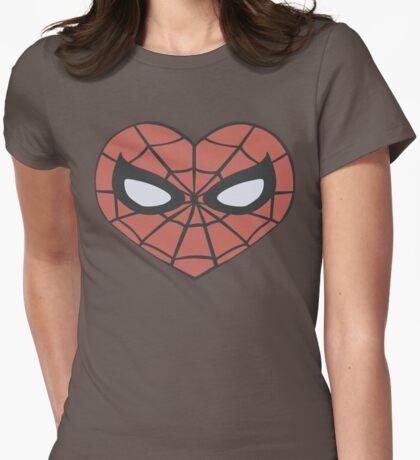 Spider-Man Heart T-Shirt Womens Fitted T-Shirt
