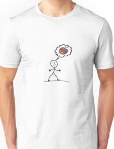 Thinking of art Unisex T-Shirt