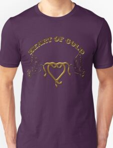 HEART OF GOLD/  Art + Products Design  Unisex T-Shirt
