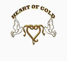 HEART OF GOLD/  Art + Products Design  Womens Fitted T-Shirt