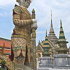 Thailand, Bangkok,Grand Palace, Ramakien guard. by johnrf