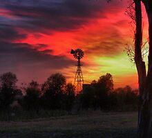 Windmills Churning ( 7) by Larry Lingard-Davis