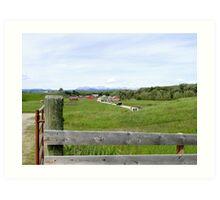 The Bar U Ranch, Alberta, Canada Art Print