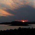 July sunset in Marathon Ontario Harbor by loralea