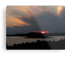July sunset in Marathon Ontario Harbor Metal Print