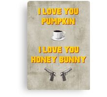 Pulp Fiction inspired valentine (1/2) Canvas Print