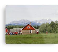 Bar U Ranch, Canada Day 2010 Metal Print