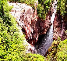 Aguasabon Falls by Rhonda Blais