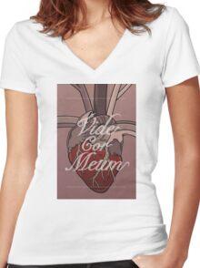 Vide Cor Meum Women's Fitted V-Neck T-Shirt