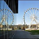 Big wheel reflecting on Mima in Middlesbrough by robwhitehead