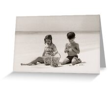 Brother & Sister at the Shore Greeting Card