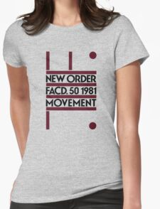 New Order - Movement. Factory 1981 Womens Fitted T-Shirt