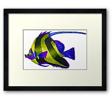 Odd yellow fish painting Framed Print