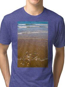 Waves Breaking on a Sandy Beach Tri-blend T-Shirt