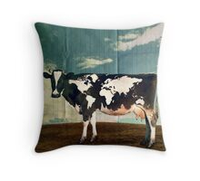 Surreal Bovine Atlas Throw Pillow