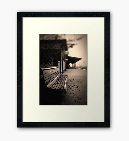 Lonely Station Framed Print