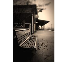 Lonely Station Photographic Print