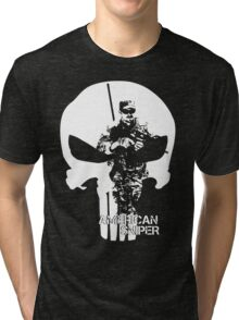 AMERICAN SNIPER CHRIS KYLE THE DEVIL OF RAMADI THE LEGEND Tri-blend T-Shirt