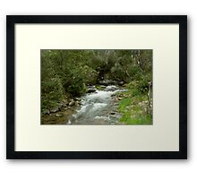 Leather Barrel Creek - Snowy Mountains Framed Print