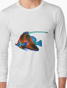 Red odd fish painting Long Sleeve T-Shirt