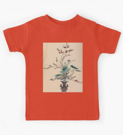 The flowers of Japan and the art of floral arrangement Josiah Conder 1892 0093 Early Style of Flower Arrangement Shin No Hana Kids Tee