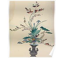 The flowers of Japan and the art of floral arrangement Josiah Conder 1892 0093 Early Style of Flower Arrangement Shin No Hana Poster