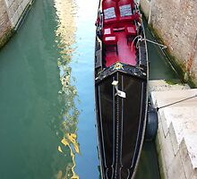 Venetian Gondolas are Asymmetrical by Keith Richardson