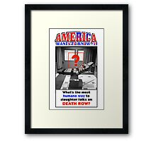 America Wants To Know #19 Framed Print