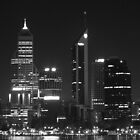 Perth by Night - Black & White by Stephen Horton