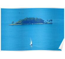 Sailing on my Mini Yacht Poster