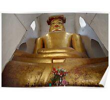 cramped Buddha statue in MA-NU-HA TEMPLE Poster
