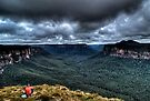 On The Edge Taking It All In | Grose Valley | The Blue Mountains | Australia | HDR by DavidIori