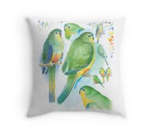 Orange-bellied Parrot Throw Pillow