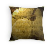 roses and music Throw Pillow