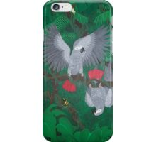 Playful Greys - African Grey Parrots iPhone Case/Skin