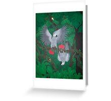 Playful Greys - African Grey Parrots Greeting Card